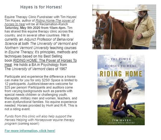 HwH Hayes is for Horses